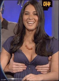Animated Funny Sexy Hot Celeb Gross Olivia Munn Jiggl
