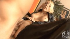 Double anal for blonde in latex