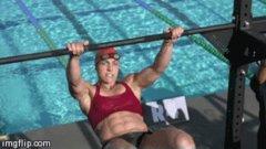 hot beefy swimmer